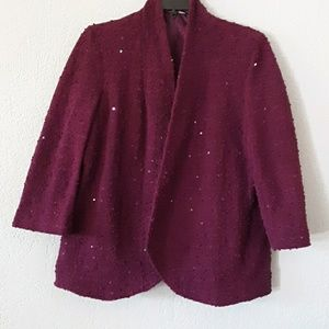 Alfred Dunner purple sequins blazer